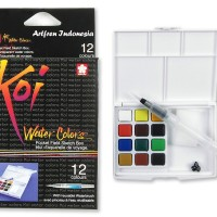 Sakura Koi Watercolor pocket 12 warna