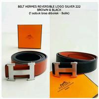 Belt HERMES Reversible Logo Silver Premium Kode 222