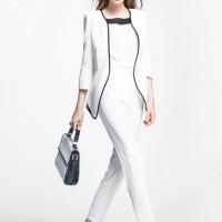 YY35376 - M L XL Mono Liz White Import Korean Fashion Polyester Blazer