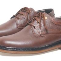 Sepatu Kerja Kulit Pria Basama Soga Coklat BFH 243