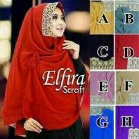 Jilbab Khimar Elfira / Khimar Elfira Renda Import