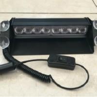 Lampu LED Strobo Tempel Kaca / Dashboard 3 Mode Terang Biru