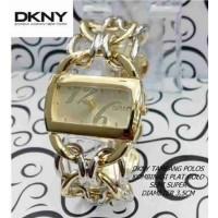 Jam Tangan WANITA DKNY TAMBANG POLOS- COMBI GOLD PLAT GOLD N5463