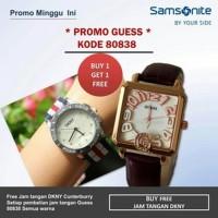 Jam Tangan PROMO...JAM GUESS 80838 SEGI LEATHERBROWN N5451