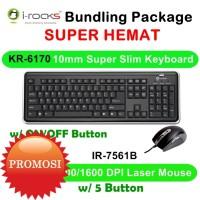 I-Rocks Bundling Scissor Keyboard & Laser Mouse 800/1600DPI K170561B