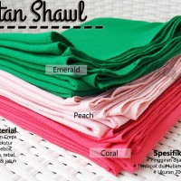 Hijab Jilbab Pashmina Buble Box Platinum Creps