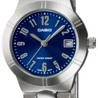Casio Analog Watch - Jam Tangan Wanita - Silver Blue - LTP-1241D-2A2