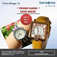 Jam Tangan PROMO...JAM GUESS 80838 SEGI LEATHERYELLOW N5455