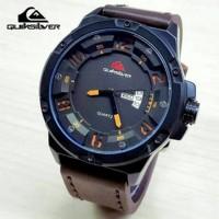 Jam Tangan TANGAN PRIA QUIKSILVER HB-700 COKLAT TUA JARUM KUNING N5488