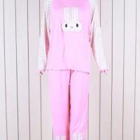 Suplier Baju Terlengkap Rabbit Pink Baju Tidur BT875 Uk L-XL