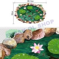 3D Wallpaper Kolam Ikan KOI WallSticker Wall Stiker
