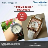 Jam Tangan PROMO...JAM GUESS 80838 SEGI LEATHERWHITE N5452