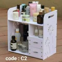 R199 Rak Kosmetik Kayu / Rak Organizer Kosmetik Desktop Storage