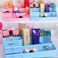 Rak Kosmetik Plastik / Rak Organizer Kosmetik Desktop Storage - RAH157