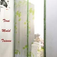 Tirai Model Taiwan HIJAU DAUN gorden anti nyamuk magnetik pintu unik