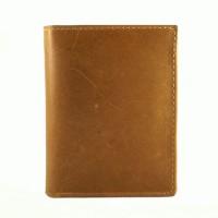 Dompet Pria Kulit Asli Murah - DOT Taurus Pull Up Tan Leather Wallet