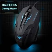 Rajfoo I5 Optical USB Gaming Mouse 1600 DPI - Hitam / Biru