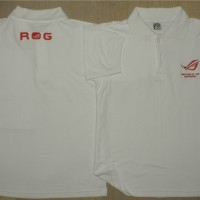 Polo Shirt ROG, Republic Of Gamer Putih (PL-ROG003)