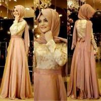 Maxi Hijab Madevran Peach (special price.best seller)