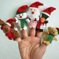 Jual Boneka Jari Seri Santa/Christmas (Christmas Finger Puppets) Murah