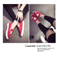 sepatu kets sneakers star platform biru hitam merah putih import