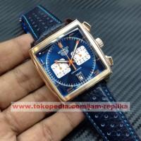 Jam Tangan Tag Heuer Monaco Calibre 12 Blue Rose Glod Premium Grade A