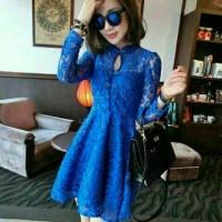 Dress googo brukat blue