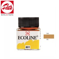 Royal Talens Ecoline Liquid Watercolour 30ml - GOLD 801