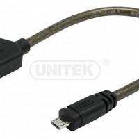 UNITEK 0.2M, OTG Cable, USB2.0 AF TO MICRO 5P BM Y-C438