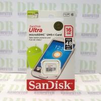 Sandisk MicroSD Ultra C10 48MB/s Non Adaptor 16GB (SDSQUNB)