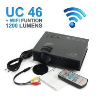 Mini Projector UNIC UC 46 WIFI 1200 lumens / proyektor UC 46 baru
