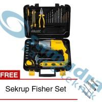 STANLEY STDH 7213 Mesin Bor Tembok Set Value Pack + Sekrup Fisher Set
