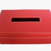 Jual Tempat Tisu Vinyl 24x13x9 cm - Merah Murah