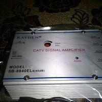 CATV SIGNAL AMPLIFIER BOOSTER + SPLITER 4 4 IN 1 SATU ANTENA UNTUK 4TV 40DB MURAH