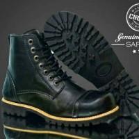 sepatu circle safty boot leather