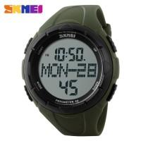 Jam Tangan Skmei S-shock Pedometer Sport Watch Dg1122s - Army Green