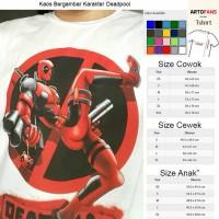 Kaos Deadpool (hasil gambar penjual sendiri)