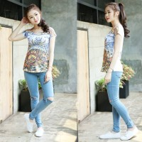harga Baju Atasan Wanita Blus Murah Bandung Animal Abstrack Remaja Cewek Top Tokopedia.com