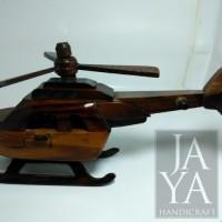 Miniatur Helikopter Mini Kayu / Helikopter Kayu