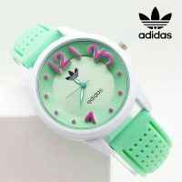 Jam Tangan Wanita Adidas Candy Rubber Green Semi Kw