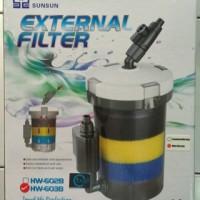 Filter External Sunsun HW-603B warna putih untuk Akuarium