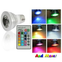 RGB LED Color Changing Light Bulb with Wireless Remote