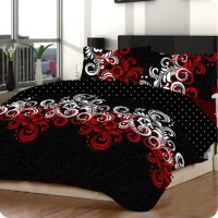 Sprei Abstrak Silent Hitam Uk 160x200x30