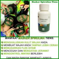 Masker Wajah Spirulina L Masker Lumpur Pemutih Ganggang Hijau Isi 20