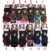 Hairclip Ombre Curly ( Banyak Warna ) / Hair Clip Korea Big Layer