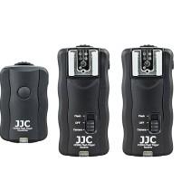 Wireless Flash Trigger Kit JJC JF-U2 2.4Ghz 2 Receiver 1 Transmitter