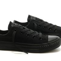 Sepatu Converse Full Black Low Pendek Hitam Allstar Premium Indonesia