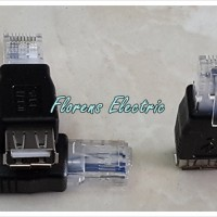 USB Female to Lan RJ45 Ethernet Male Adapter