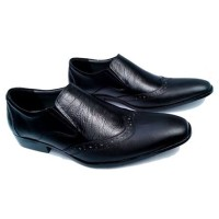 Sepatu Kulit Asli Kerja Pantofel Kantor Pria Formal Alexander Hitam S3