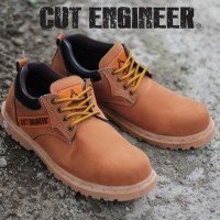 Cut Engineer Safety Low Boots Canada Leather - Coklat Muda